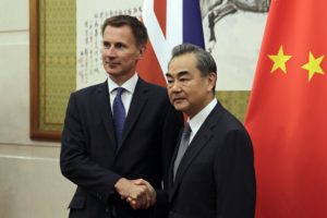 Jeremy Hunt with Mr Wang